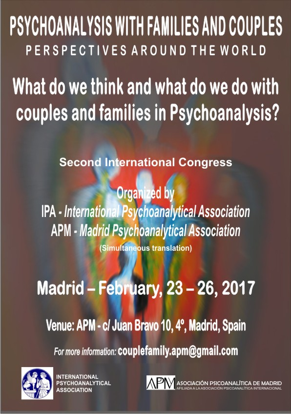 Couple and Family Psychoanalysis 2nd International Congress