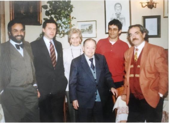 1993, Emilio Servadio, Renata Gaddini und einige Gelehrte