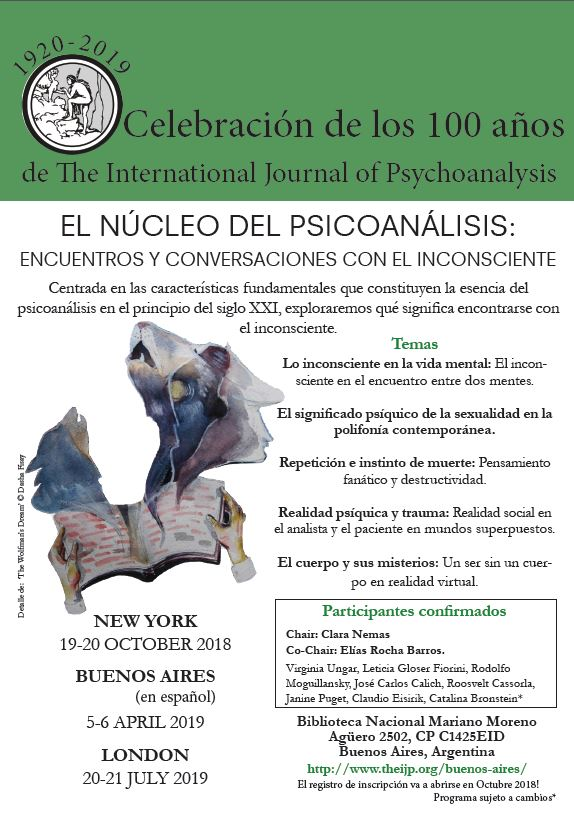 The IJP Centenary Conference Buenos Aires: 100 years